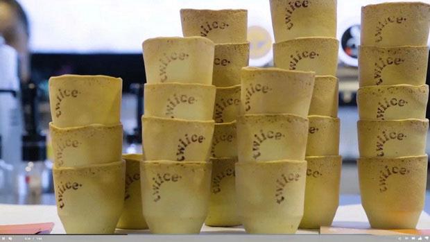 Air New Zealand будет использовать съедобные чашки 3