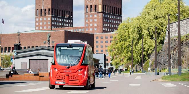 Новинка Осло: беспилотные электробусы