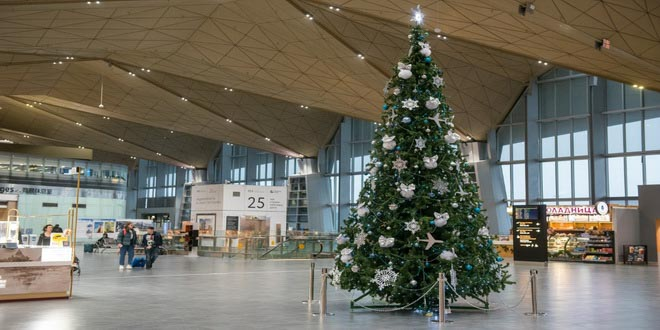 Аэропорт Пулково в новогодние праздники принял свыше 758 тысяч пассажиров