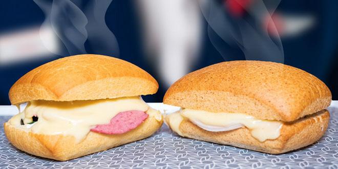 Горячие сэндвичи на рейсах «России»