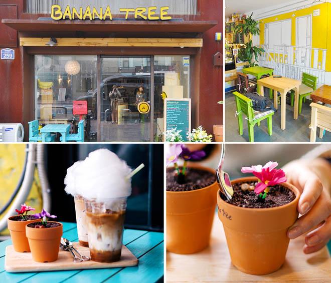 10 необычных кафе Сеула - BANANA TREE