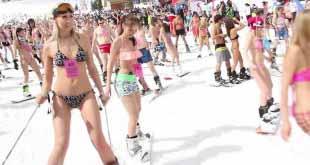 Рекорда ради: туристы устроят массовый спуск в бикини с горы в Шерегеше