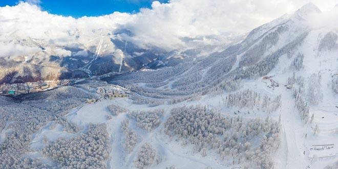 В горах Сочи начались долгожданные снегопады 1