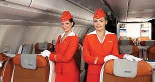 """Девушки в ярко-красном принесли """"Аэрофлоту"""" третье место в рейтинге самых привлекательных стюардесс"""