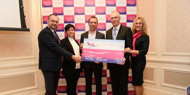 WizzAirзапустит новые рейсы из Пулково в четыре европейских города