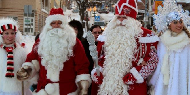 Йоулупукки и Дед Мороз встречаются в Лаппеенранте 1